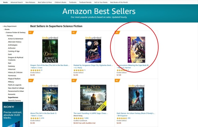 2019-11-01 Amazon Best Sellers Best Superhero Science Fiction